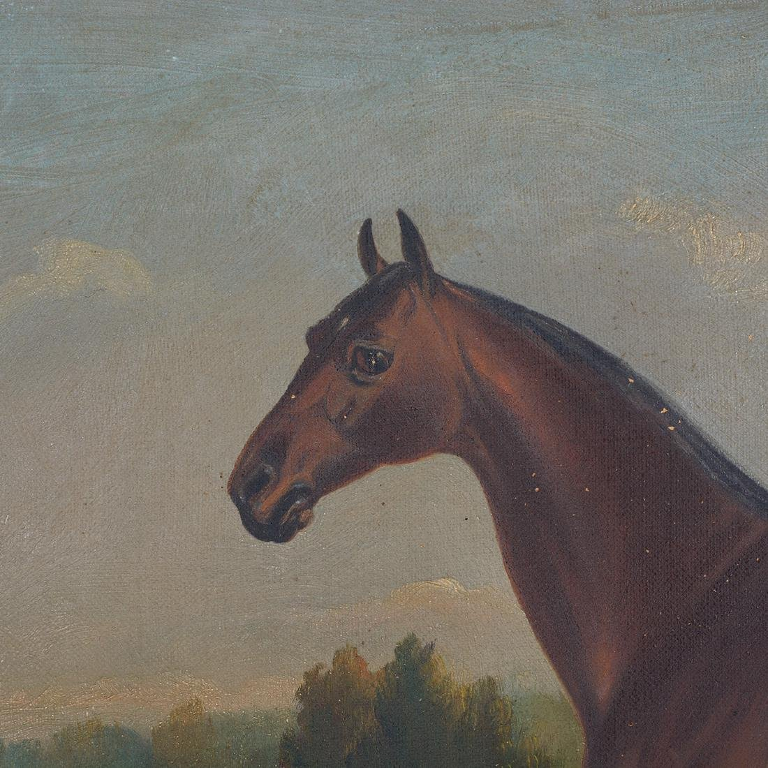 "19th C. portrait ""Electioneer"" Leland Stanford's Horse - 3"
