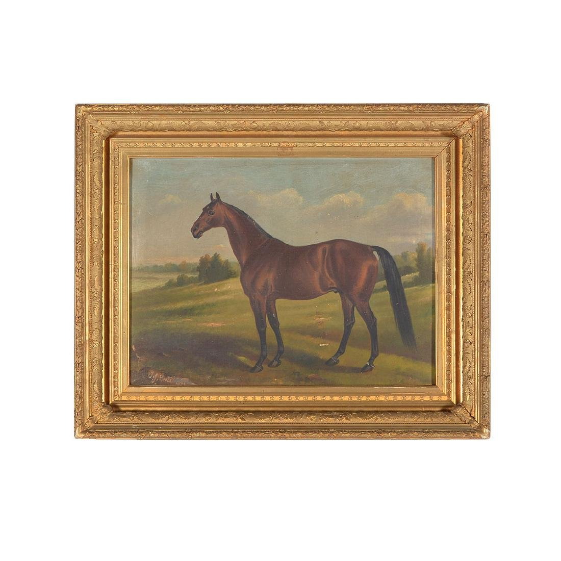 "19th C. portrait ""Electioneer"" Leland Stanford's Horse - 4"