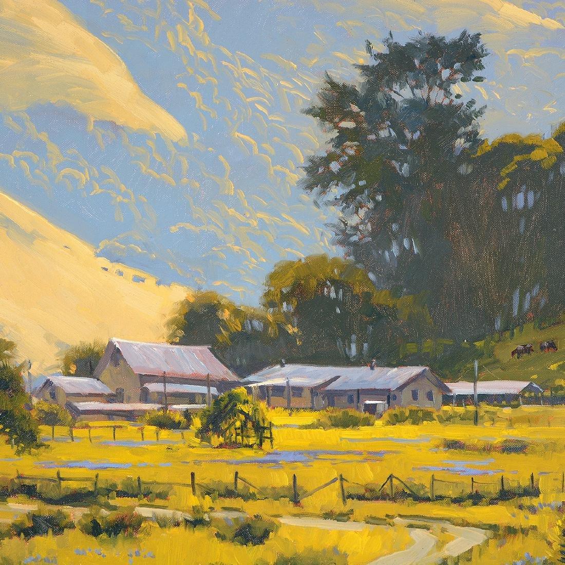 """J. thomas Soltesz """"Black Mountain Ranch"""" oil on canvas - 3"""