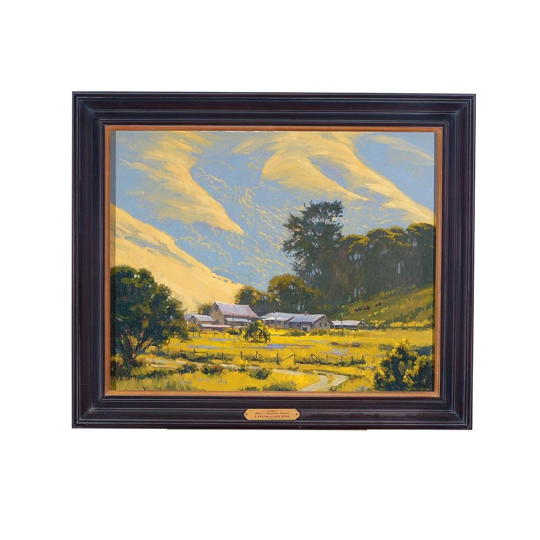 """J. thomas Soltesz """"Black Mountain Ranch"""" oil on canvas - 4"""