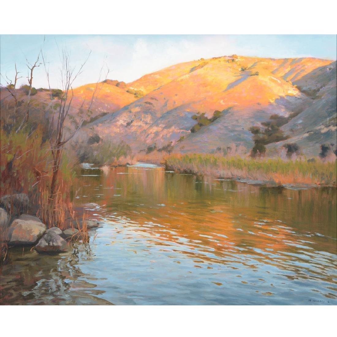 "Richard Schloss ""Santa Ynez River"" oil on canvas"