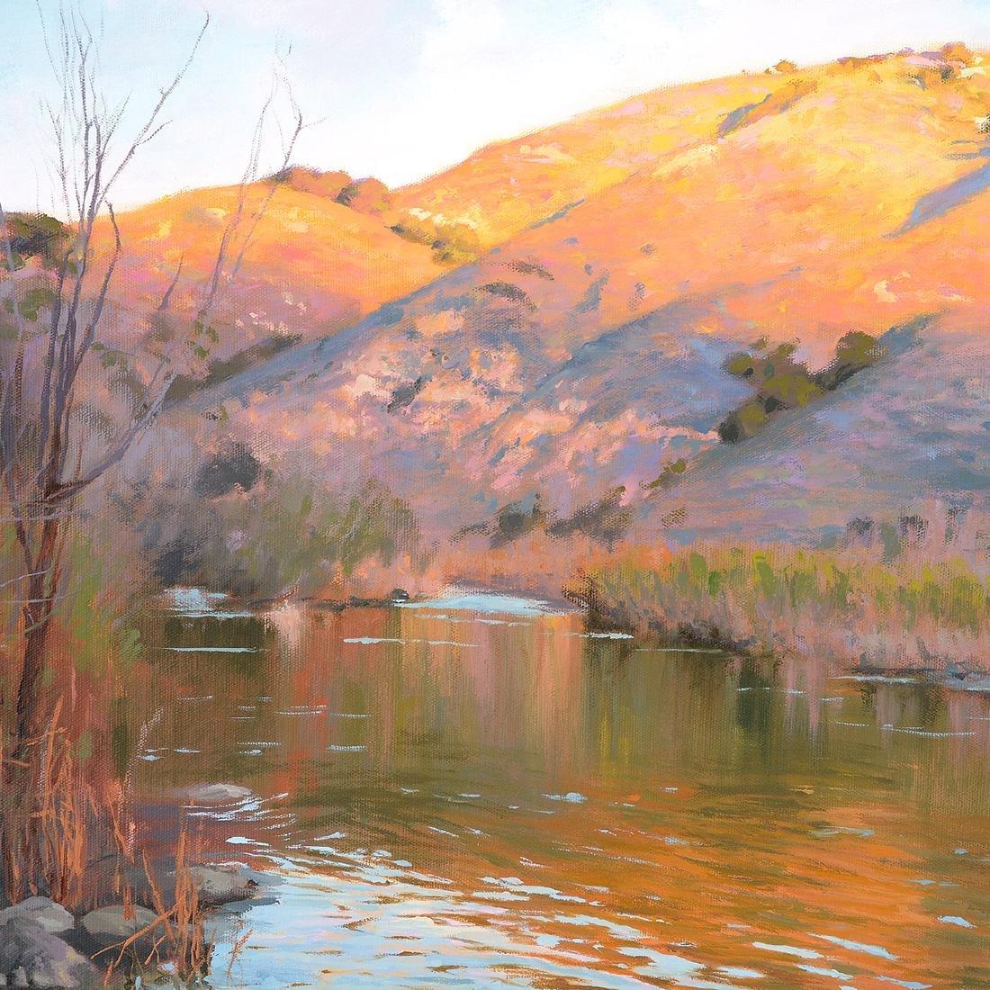 "Richard Schloss ""Santa Ynez River"" oil on canvas - 3"