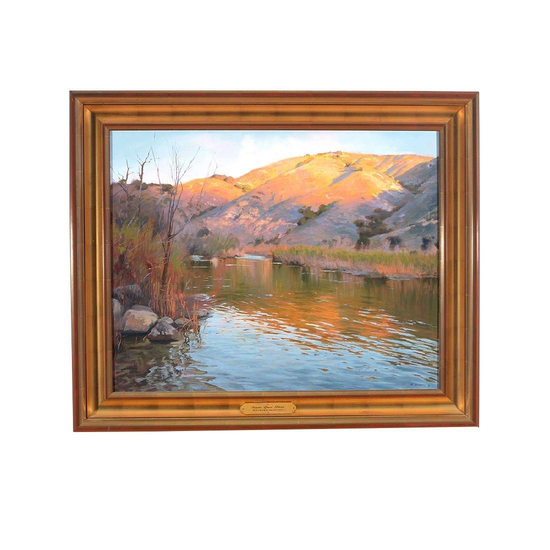 "Richard Schloss ""Santa Ynez River"" oil on canvas - 4"