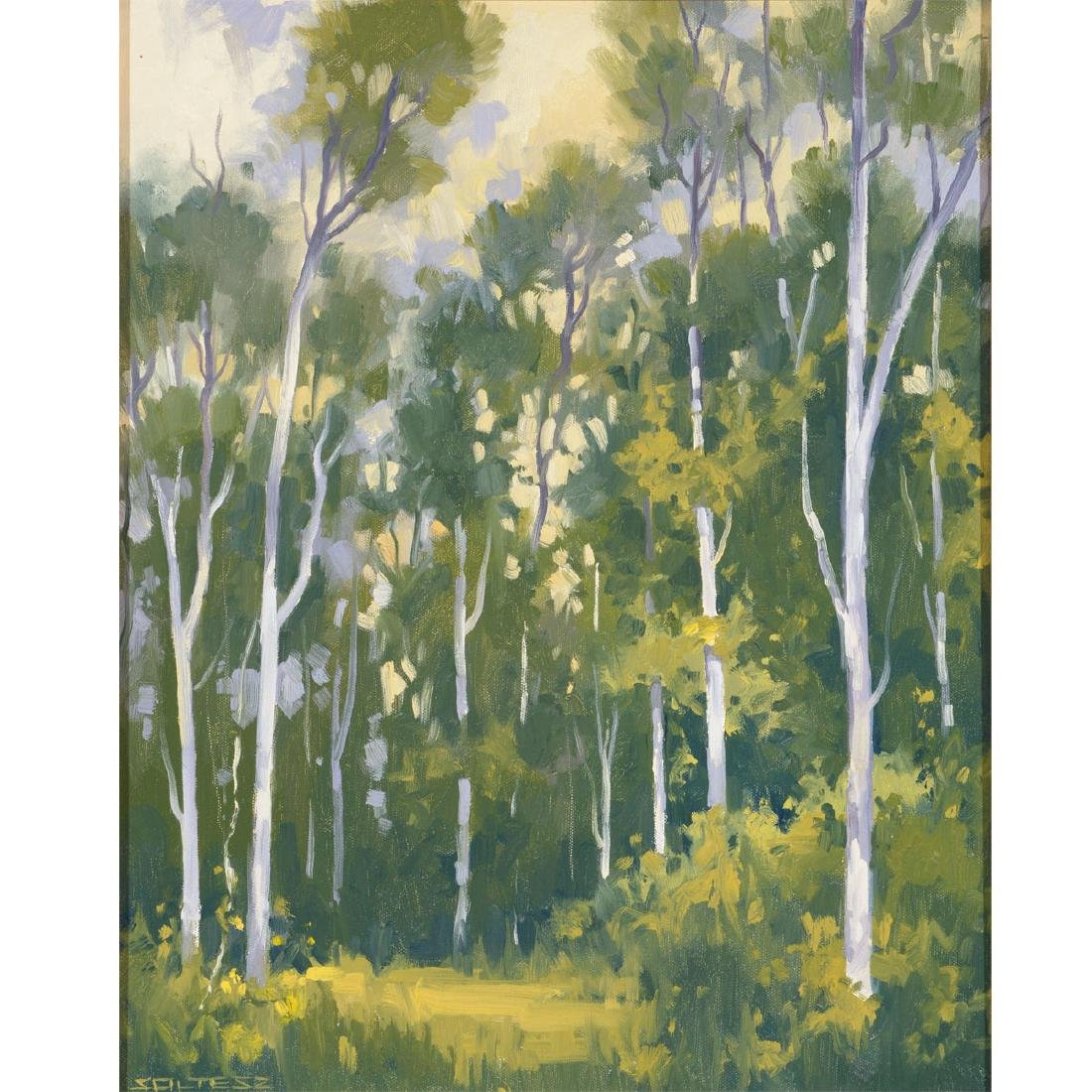 "J. Thomas Soltesz ""Summer Fog Trail"" oil on canvas"