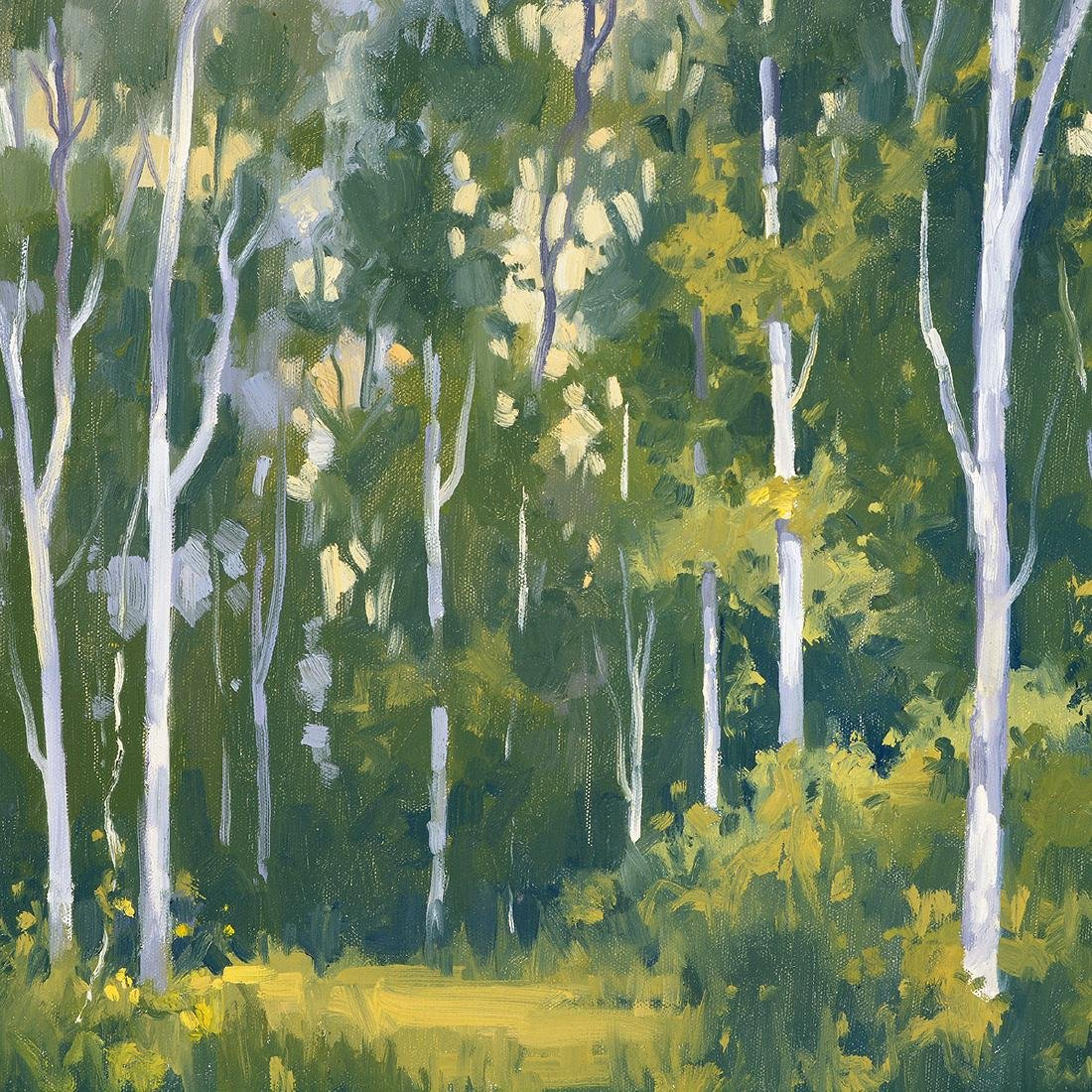 "J. Thomas Soltesz ""Summer Fog Trail"" oil on canvas - 3"