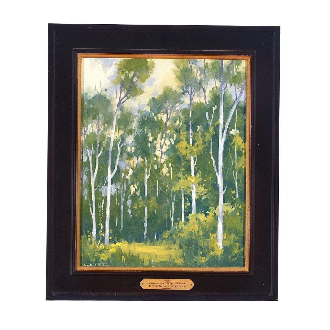 "J. Thomas Soltesz ""Summer Fog Trail"" oil on canvas - 4"