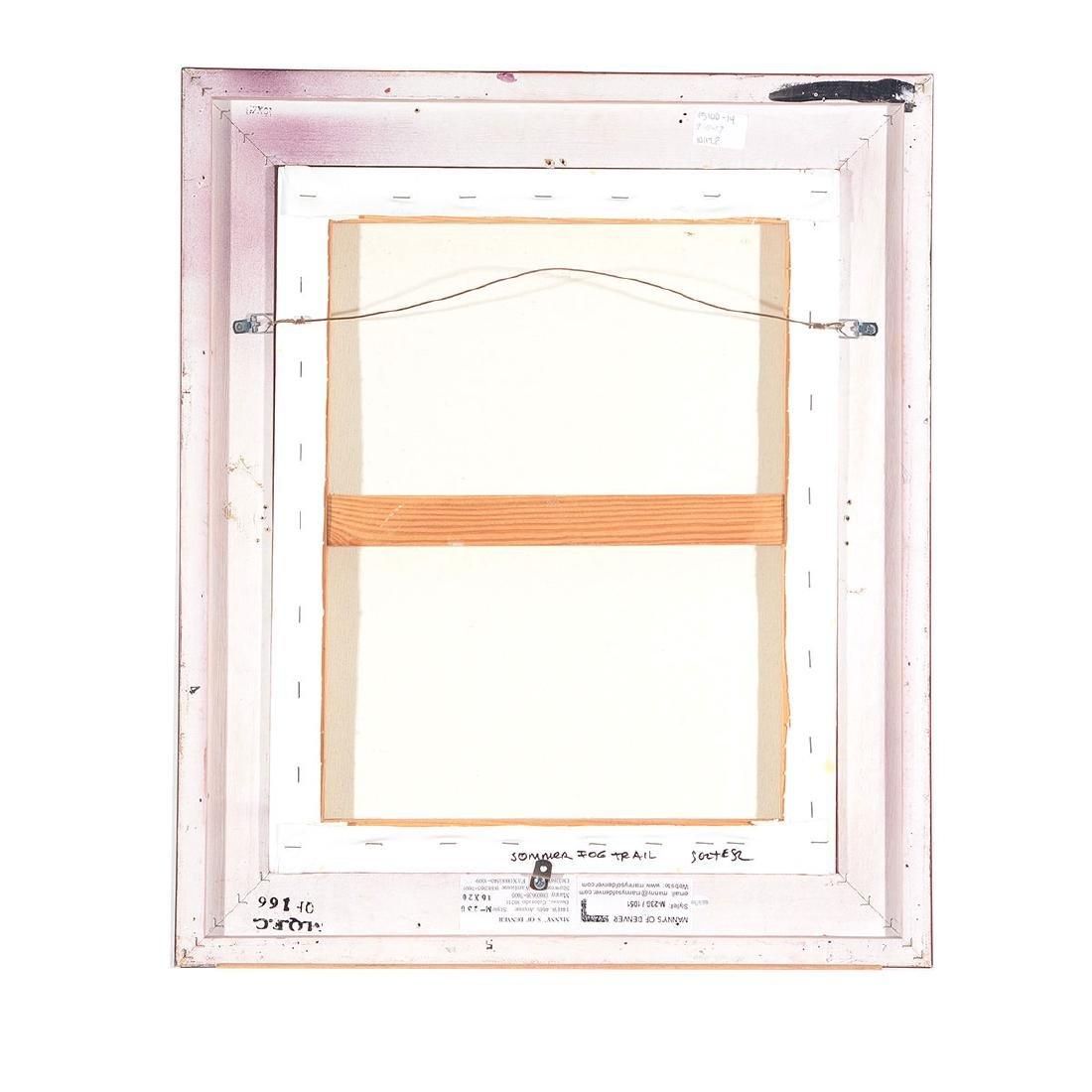 "J. Thomas Soltesz ""Summer Fog Trail"" oil on canvas - 5"