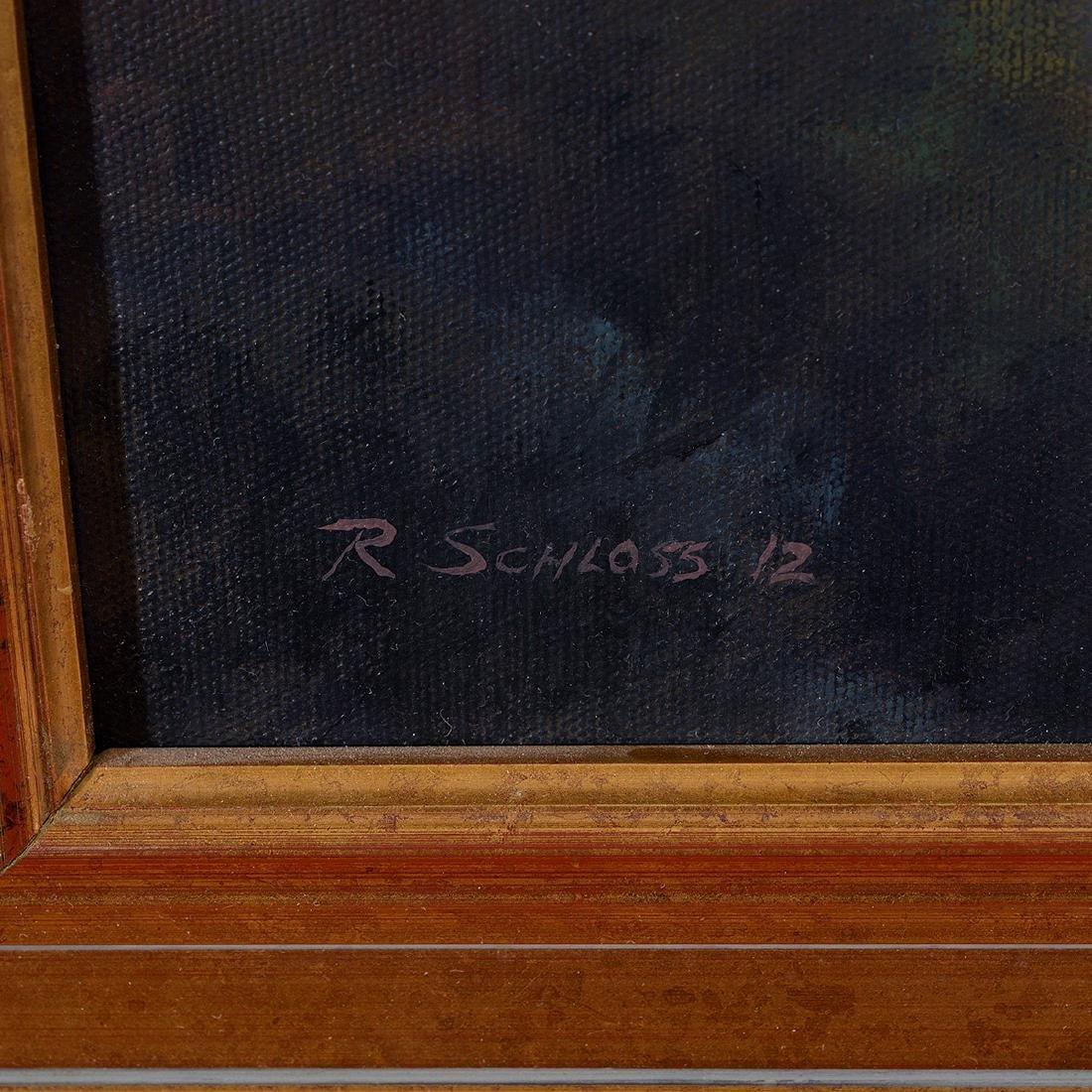 "Richard Schloss ""Sunset Hills"" oil on canvas - 2"
