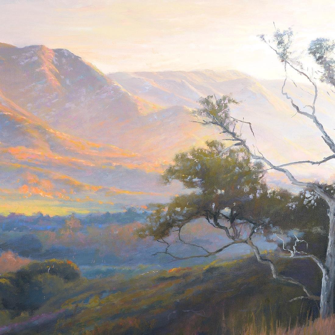 "Richard Schloss ""Sunset Hills"" oil on canvas - 3"