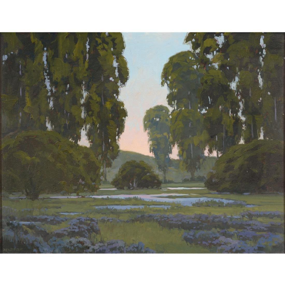"J. Thomas Soltesz ""Evening Reflections"" oil on canvas"