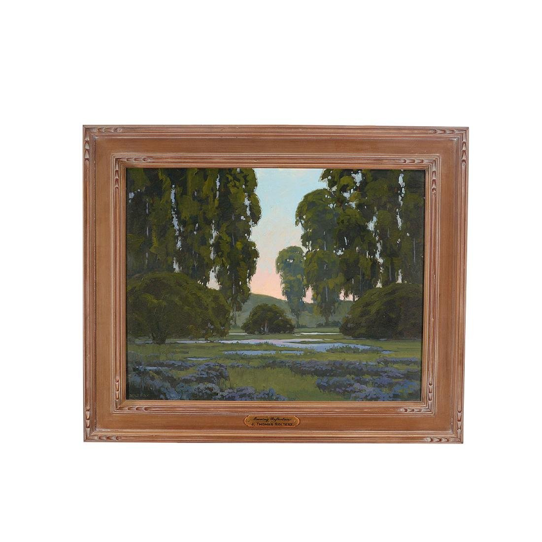 "J. Thomas Soltesz ""Evening Reflections"" oil on canvas - 4"
