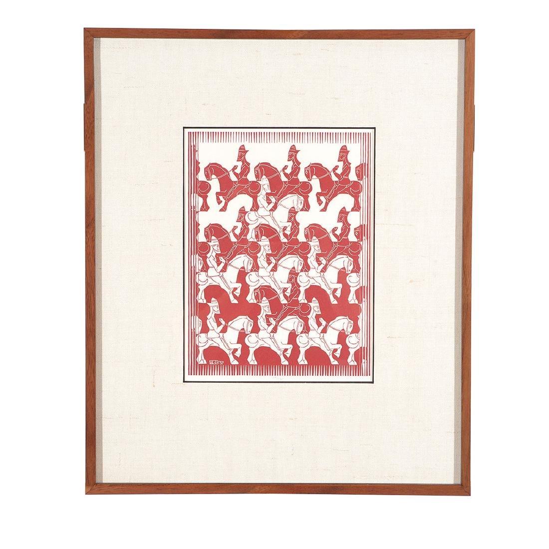 "Escher, 2 ""Regular Division of the Plane III"" woodcuts - 10"