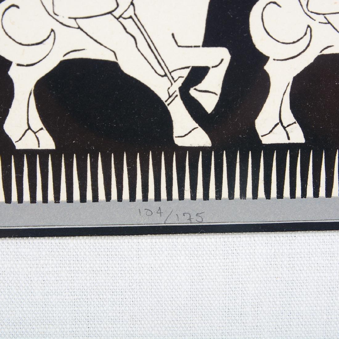 "Escher, 2 ""Regular Division of the Plane III"" woodcuts - 3"