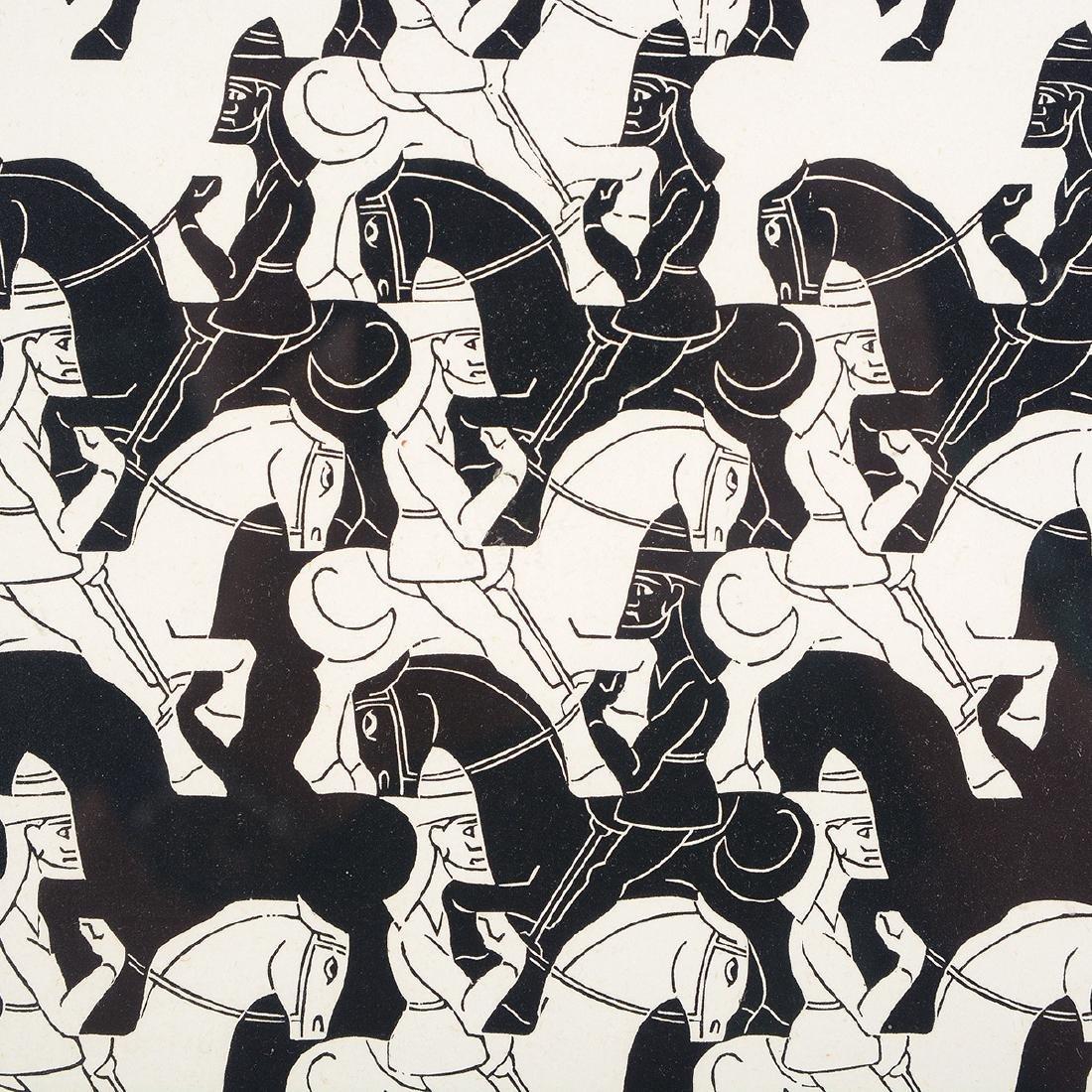 "Escher, 2 ""Regular Division of the Plane III"" woodcuts - 4"