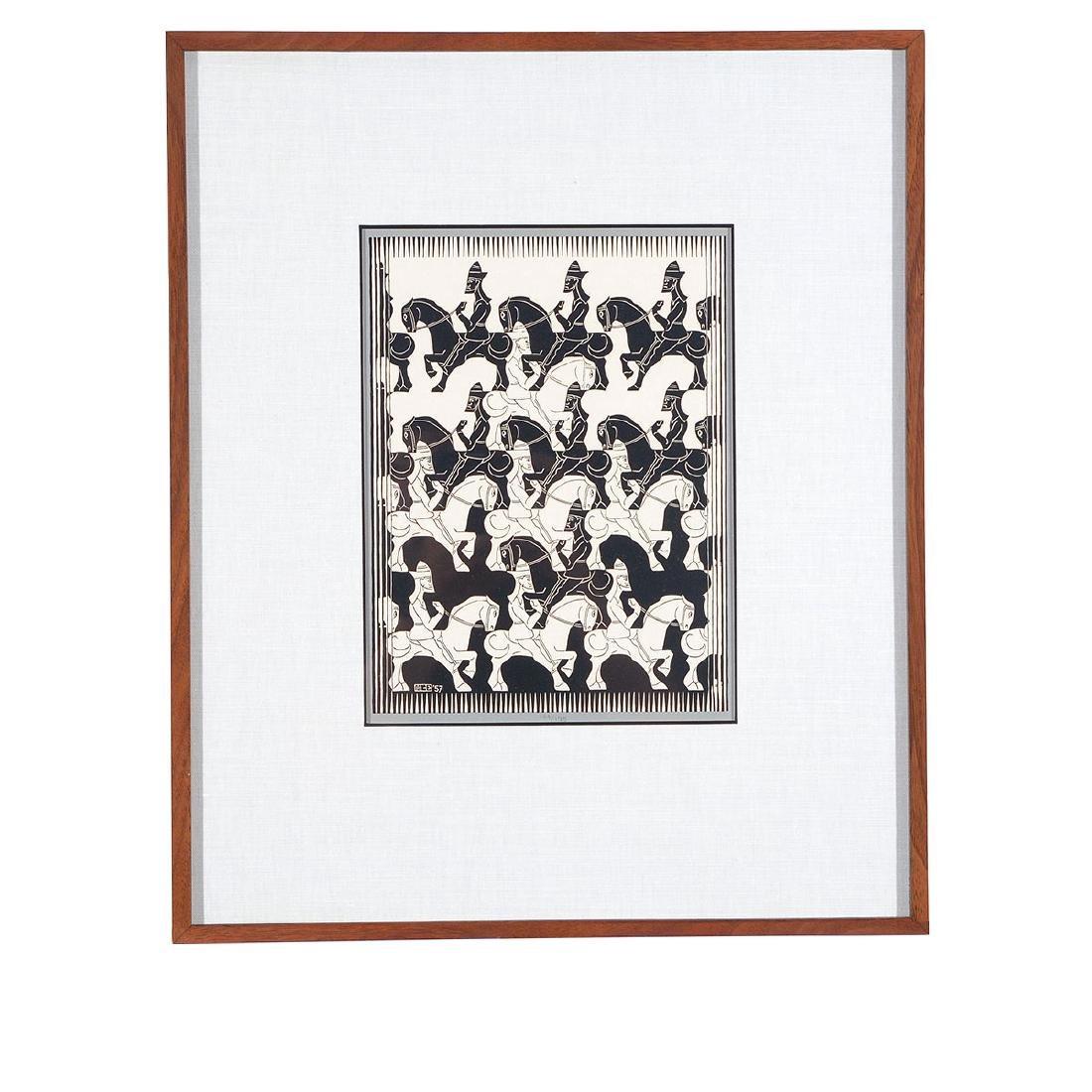 "Escher, 2 ""Regular Division of the Plane III"" woodcuts - 5"