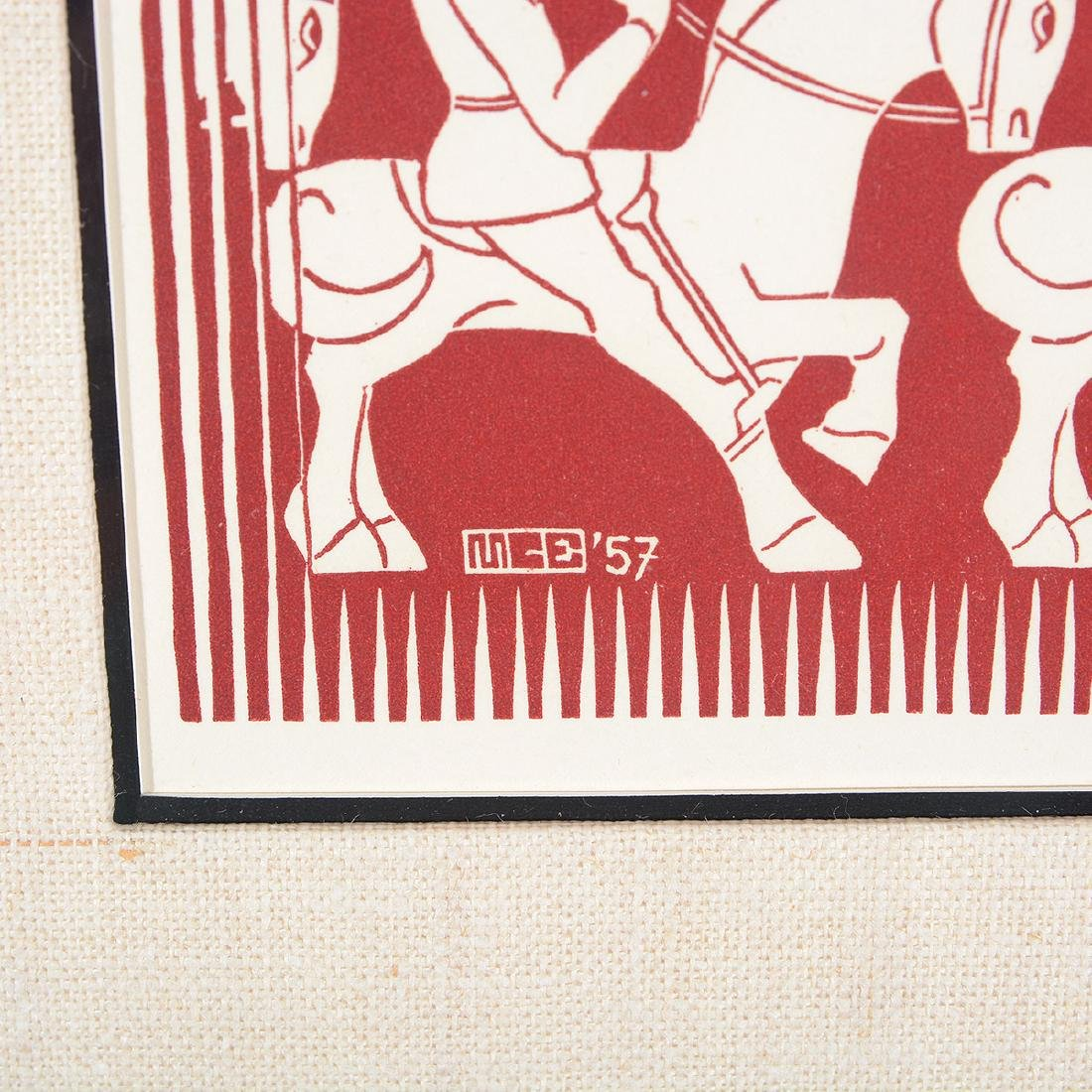 "Escher, 2 ""Regular Division of the Plane III"" woodcuts - 7"