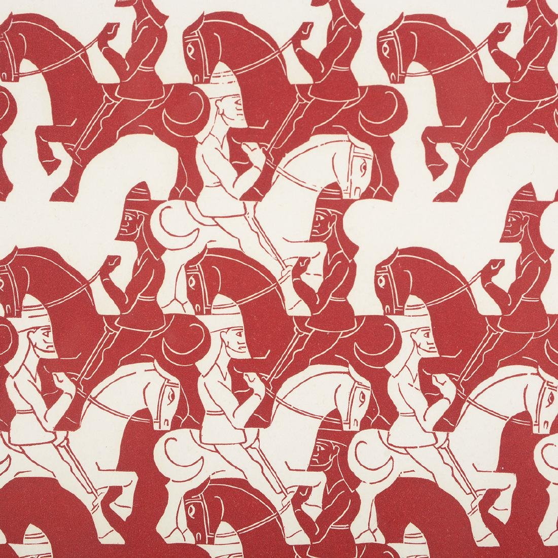 "Escher, 2 ""Regular Division of the Plane III"" woodcuts - 9"
