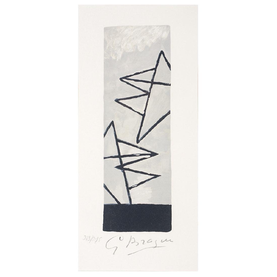 "George Braque ""Ciel Gris I"" Lithograph, signed"