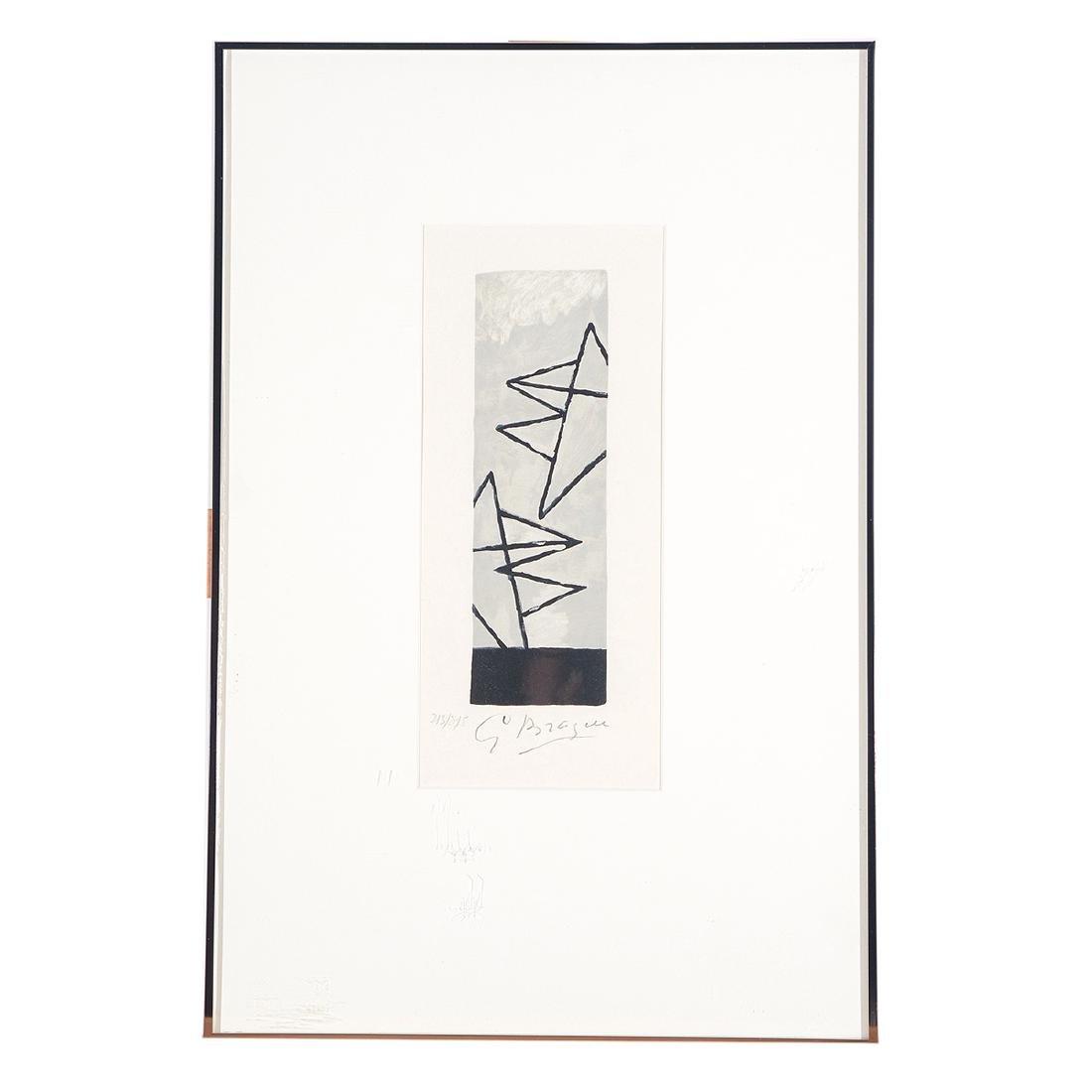 "George Braque ""Ciel Gris I"" Lithograph, signed - 4"