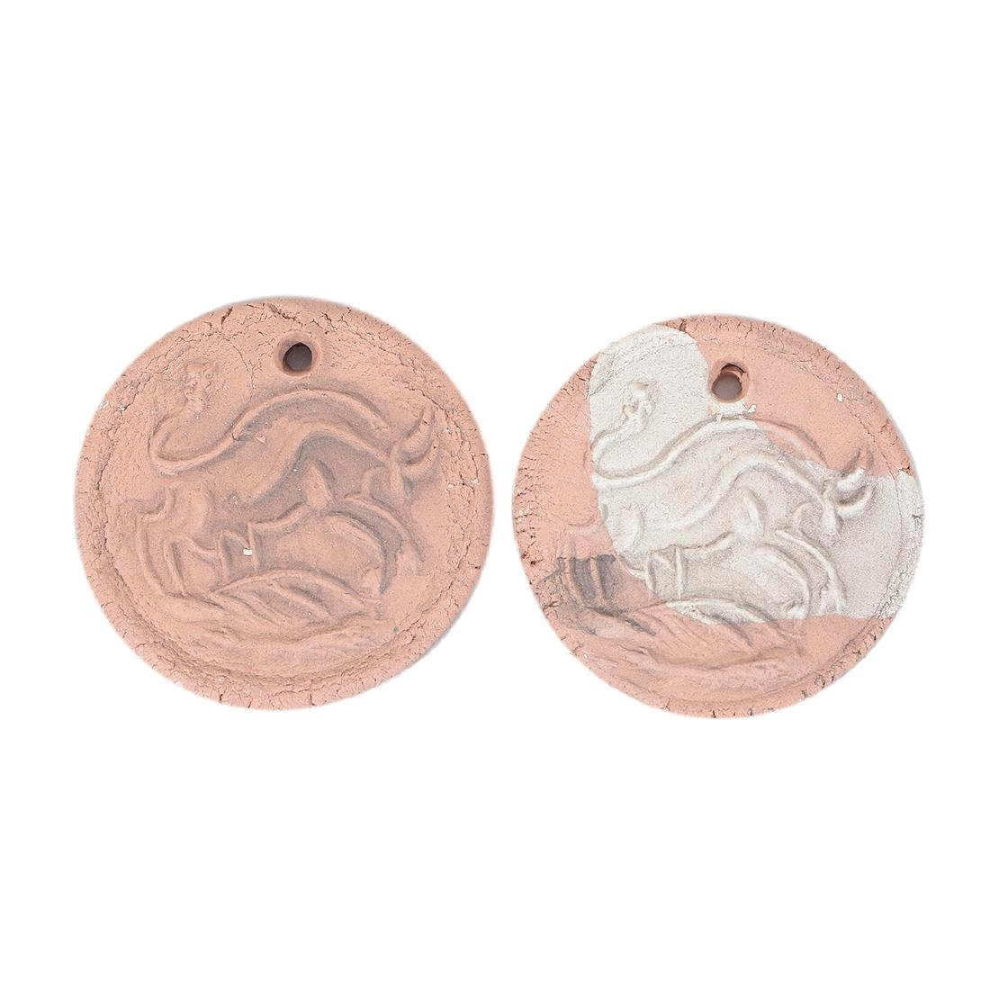 Two Picasso Style earthenware medallions