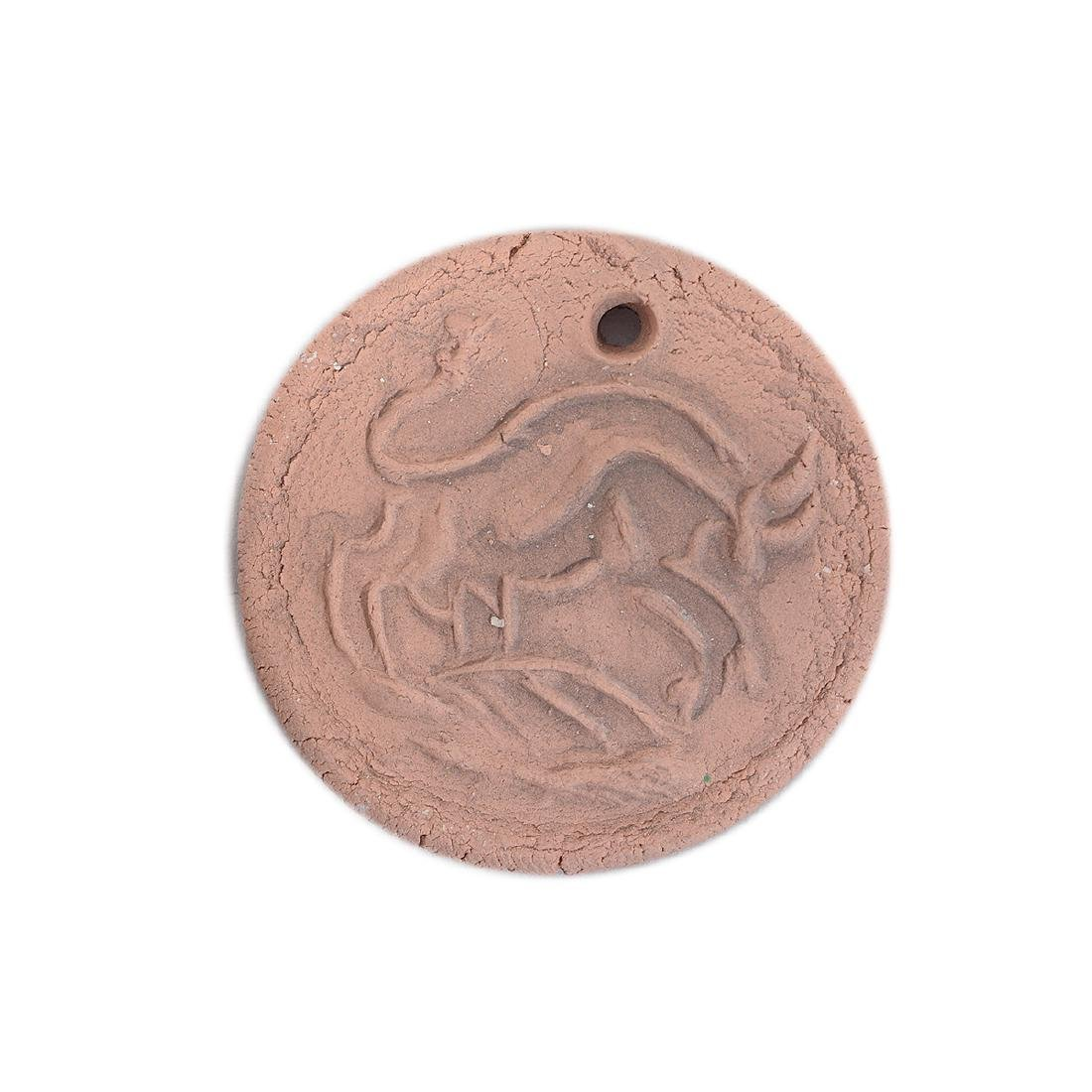 Two Picasso Style earthenware medallions - 2