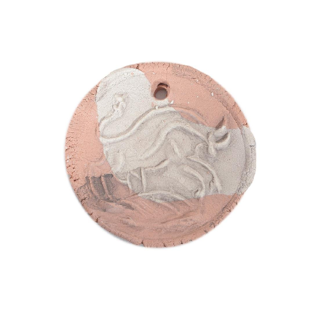 Two Picasso Style earthenware medallions - 4
