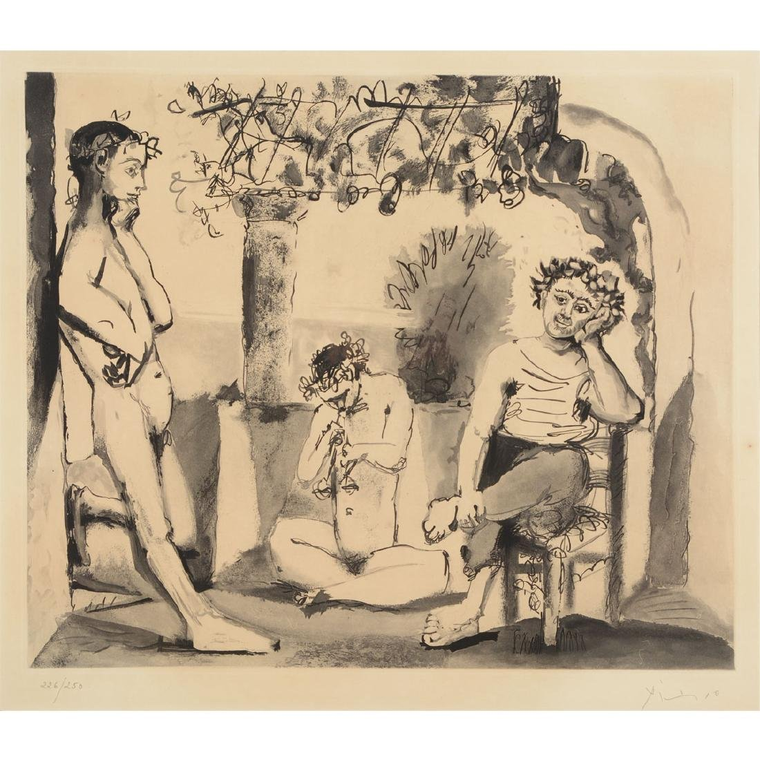 """After Pablo Picasso """"Baccanale"""" etching"""