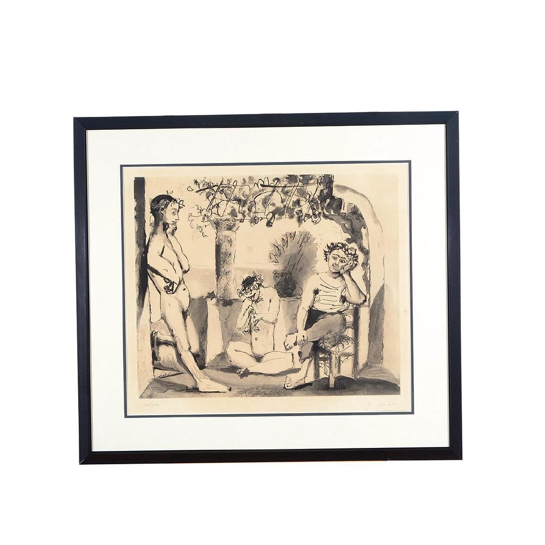 """After Pablo Picasso """"Baccanale"""" etching - 5"""
