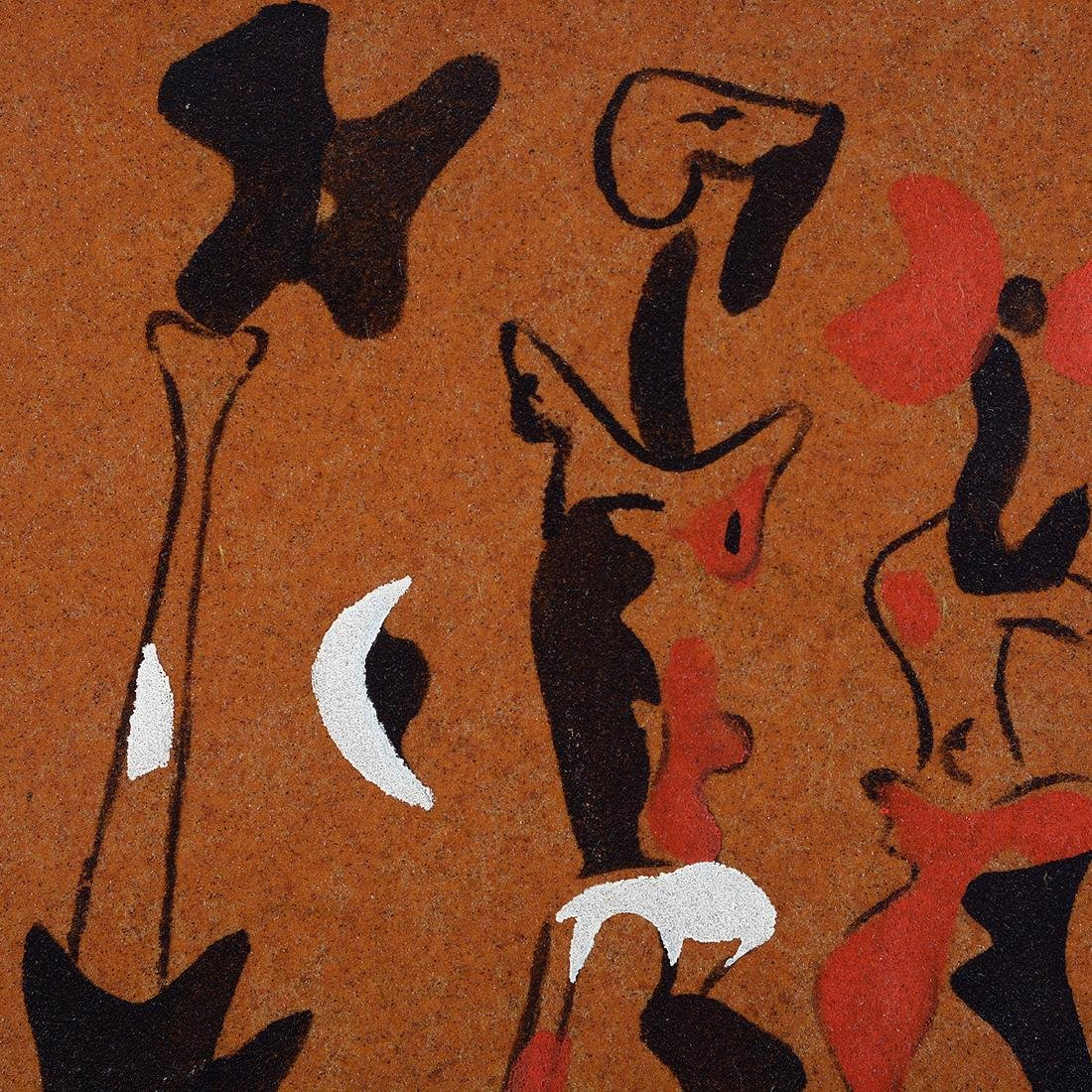 "Joan Miro ""Untitled 1937"" color pochoir on sandpaper - 2"