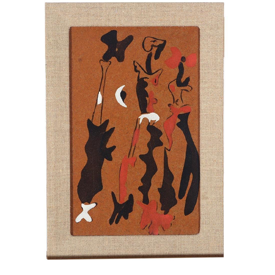"Joan Miro ""Untitled 1937"" color pochoir on sandpaper - 4"