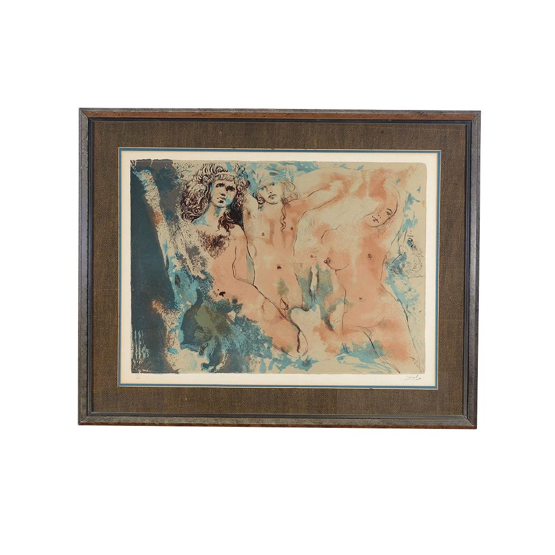 "Salvador Dali ""Three Hippies"" lithograph - 5"