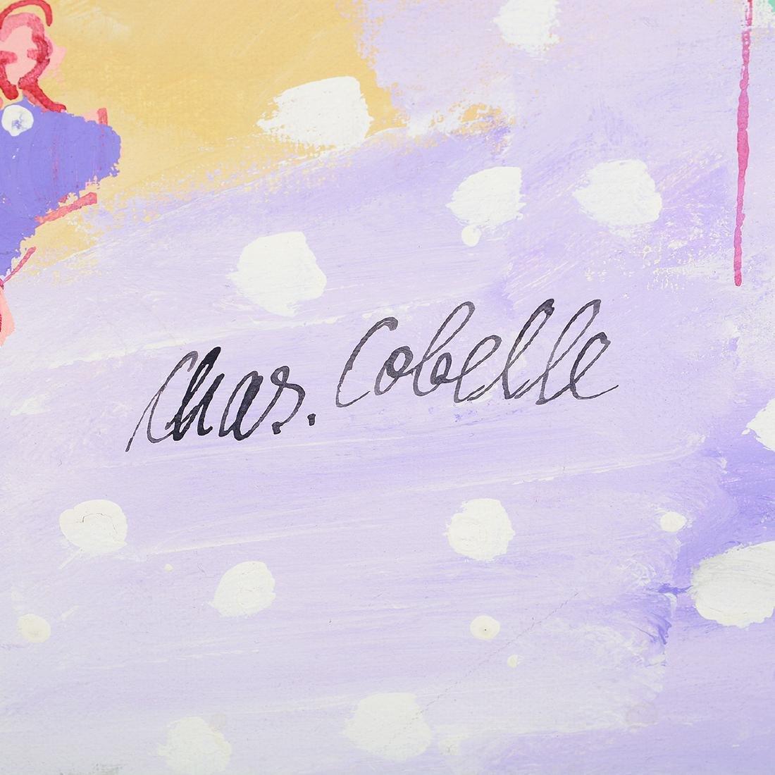 """Charles Cobelle """"Paris Street Scene"""" oil on canvas - 2"""