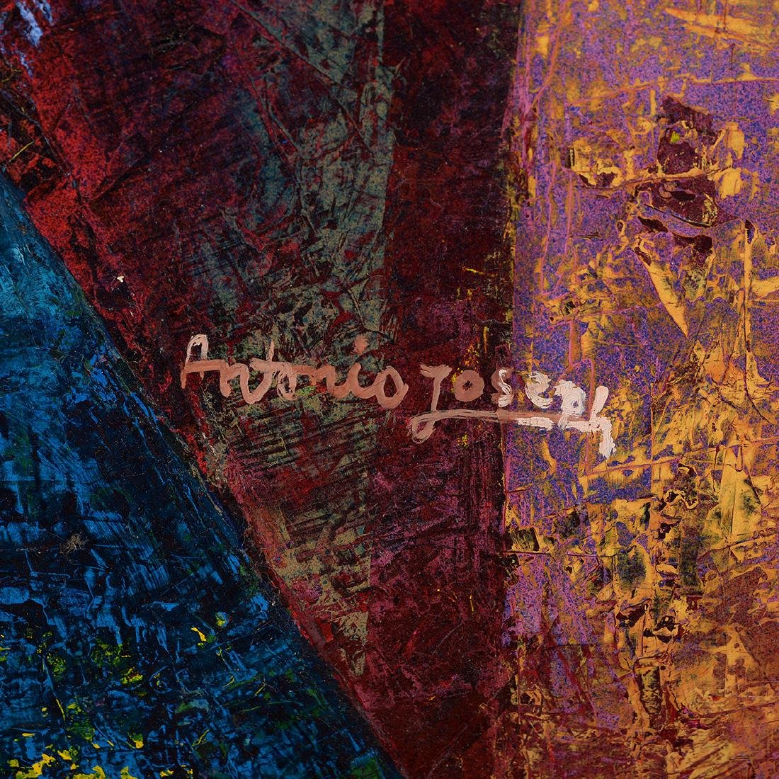"Antonio Joseph, Haitian Art, ""Village"" oil - 2"
