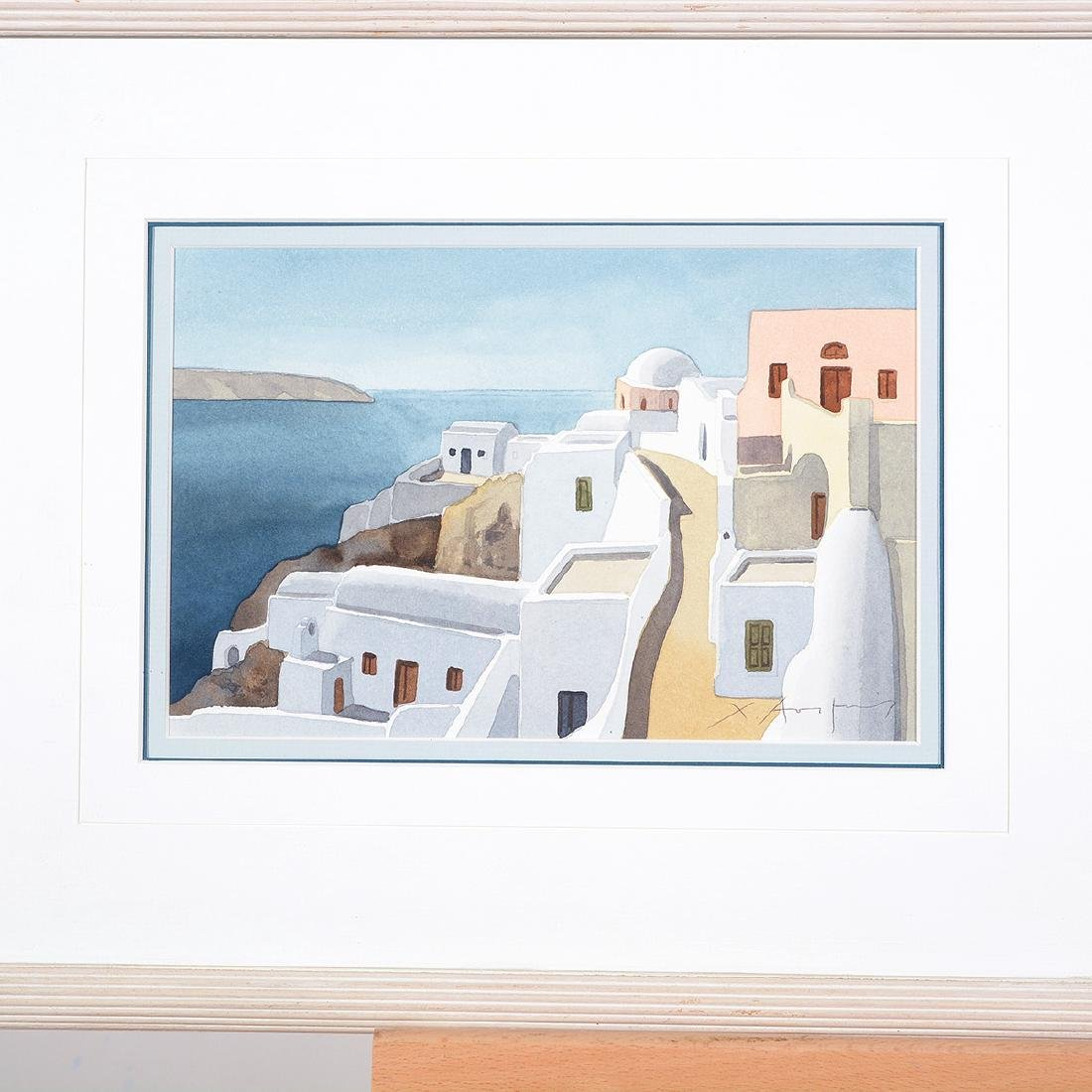 Four Christofos Asimis watercolors of Greece - 5