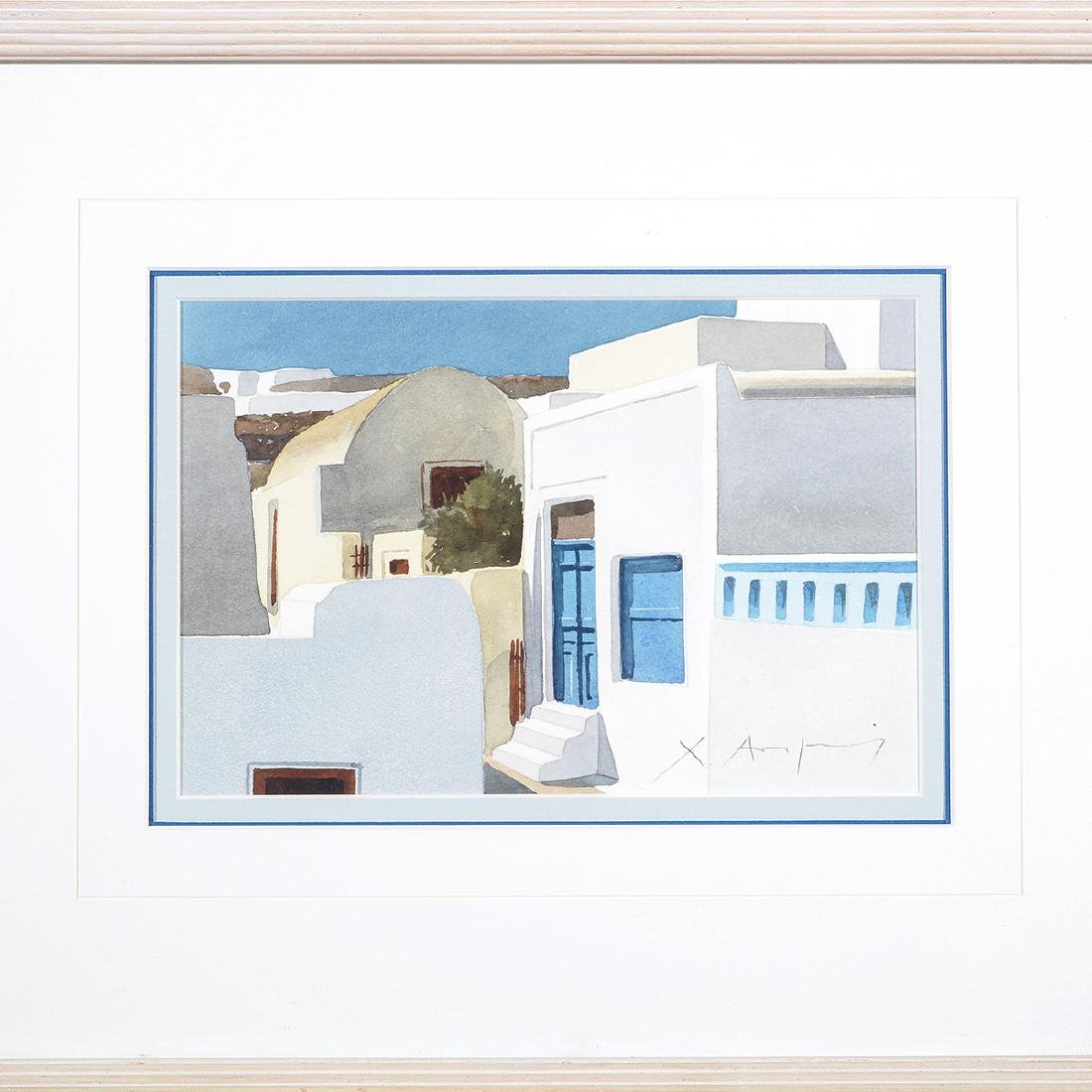 Four Christofos Asimis watercolors of Greece - 6