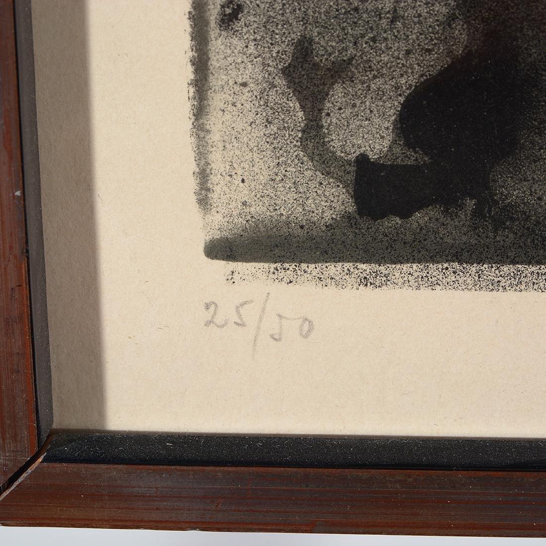 "Antoni T‡pies ""Untitled"" lithograph, Spanish Art - 3"