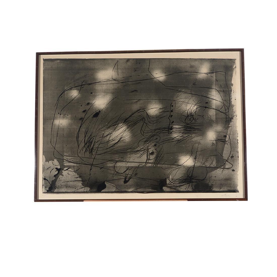 "Antoni T‡pies ""Untitled"" lithograph, Spanish Art - 5"