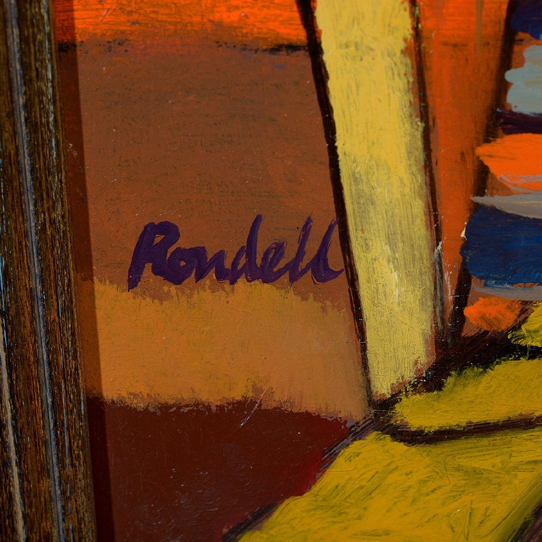 """Lester Rondell, """"Miani Gin Rummy"""" Oil painting - 2"""