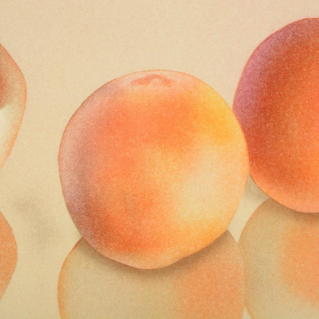 "Mark Adams ""Three Peaches"" color lithograph - 4"