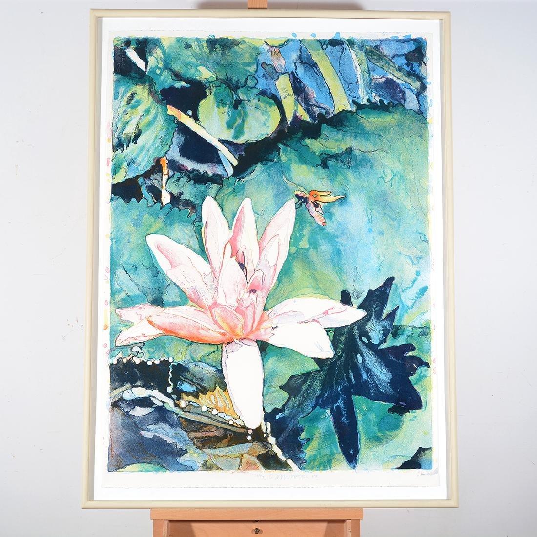 Joseph Raffael, Water lilies & Haiku Fish III lithos - 8