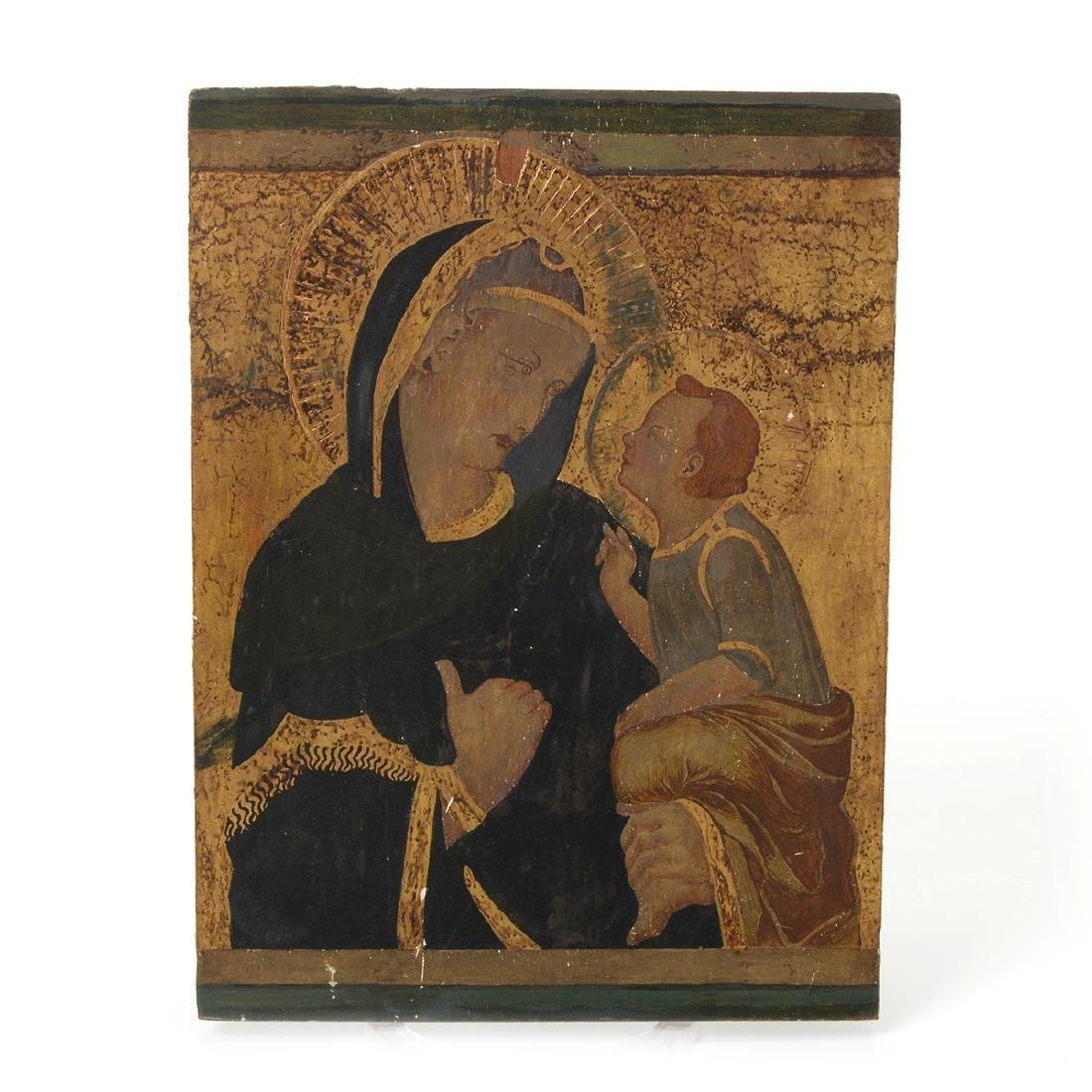 Italian Icon of Madonna and Child