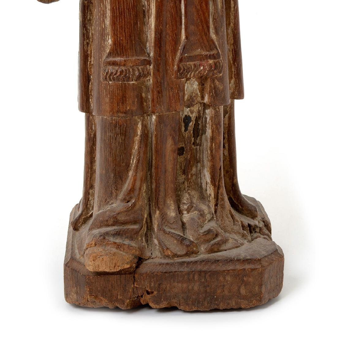 Two Spanish Colonial Polychrome Santos Figures - 3