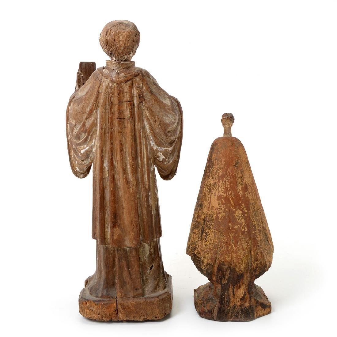 Two Spanish Colonial Polychrome Santos Figures - 8