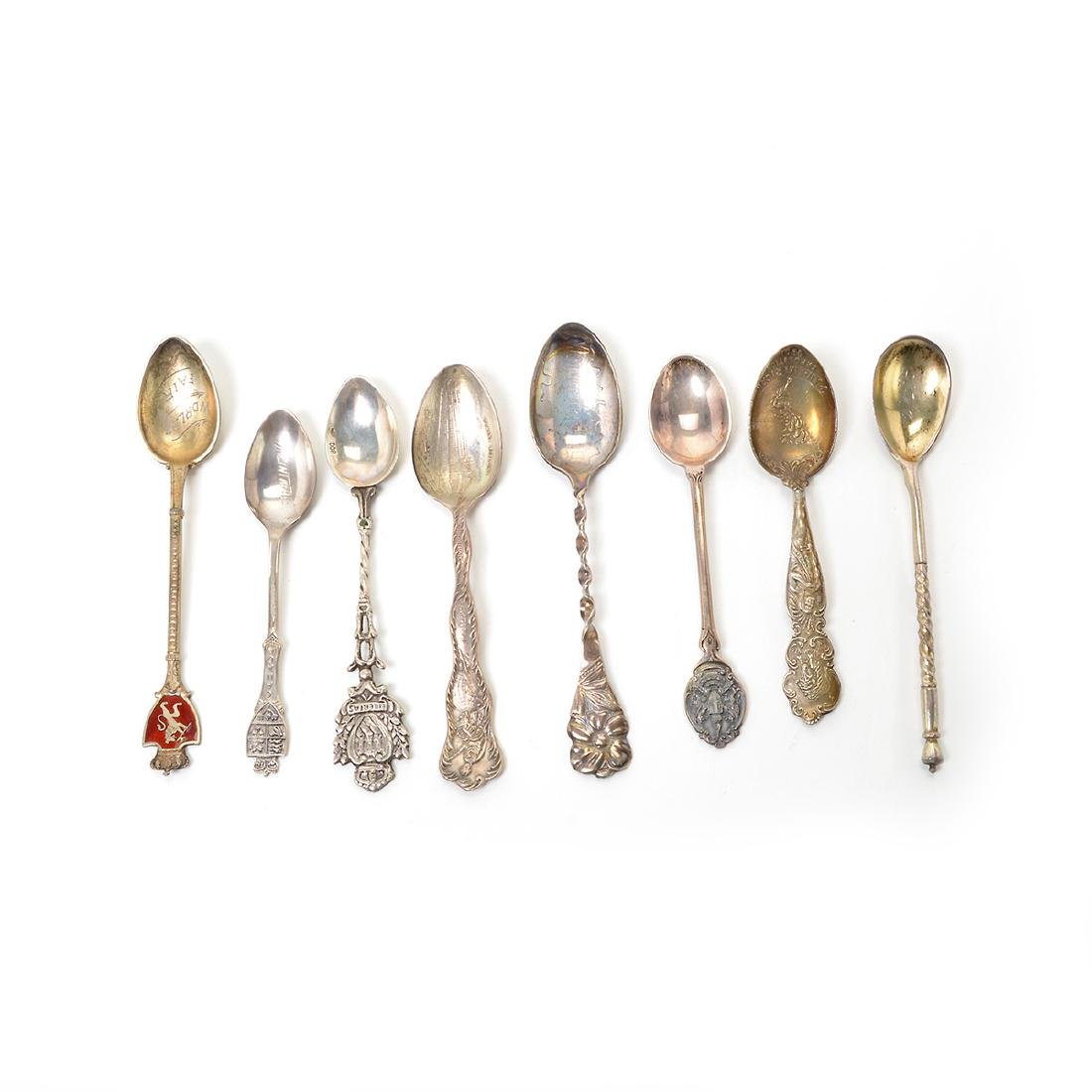 Assorted Coin Silver Flatware with Souvenir Spoons - 3