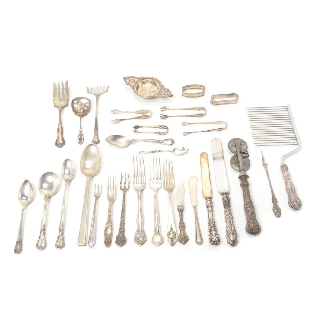 Collection of Assorted Sterling Flatware and Table