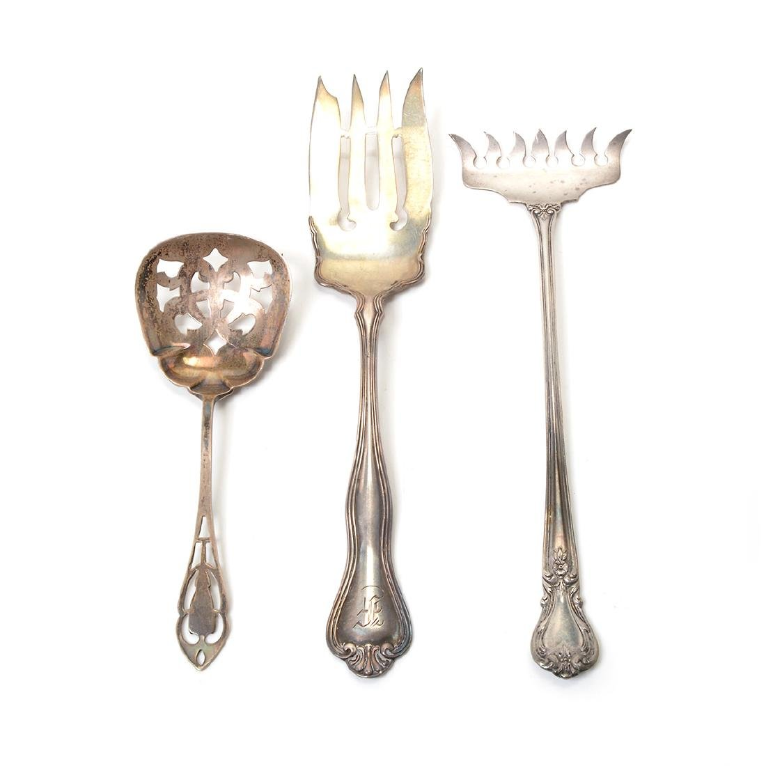 Collection of Assorted Sterling Flatware and Table - 4