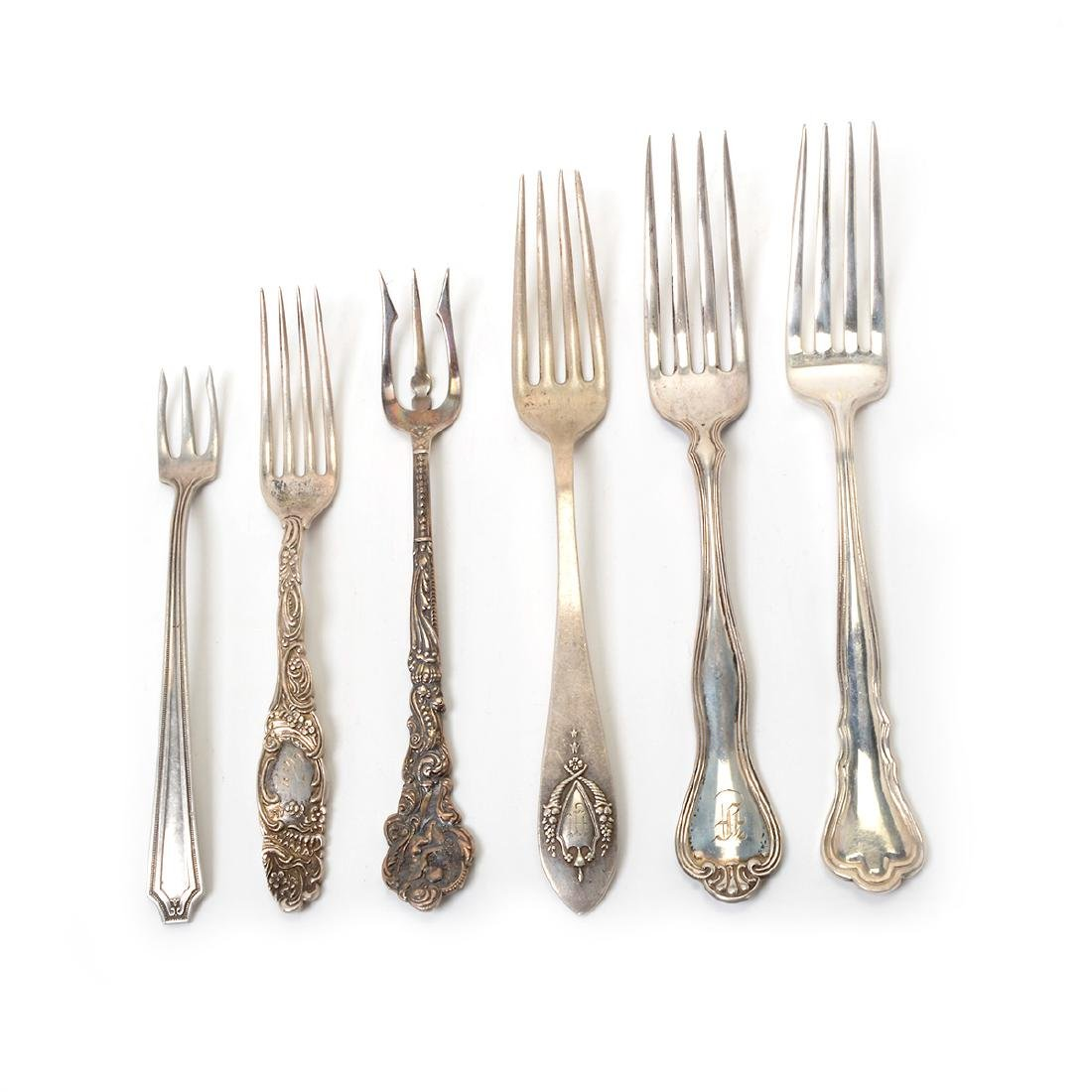 Collection of Assorted Sterling Flatware and Table - 7