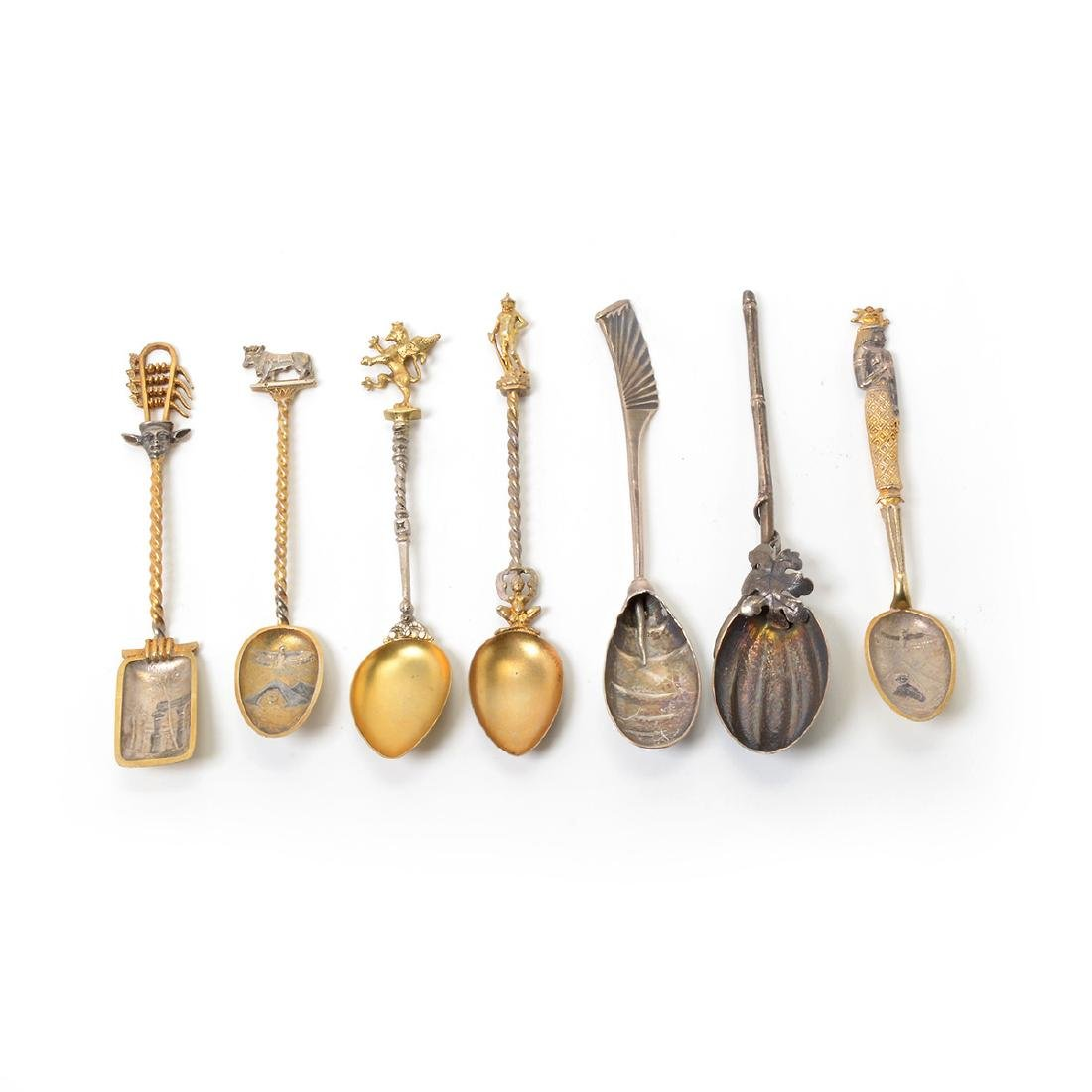 Collection of Chinoiserie and Egyptian Revival Spoons - 2