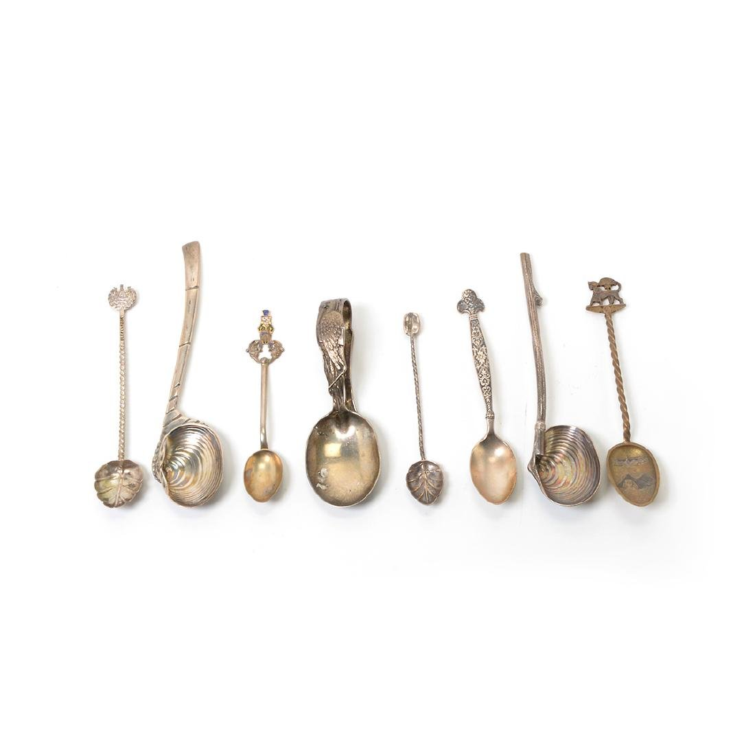 Collection of Chinoiserie and Egyptian Revival Spoons - 3