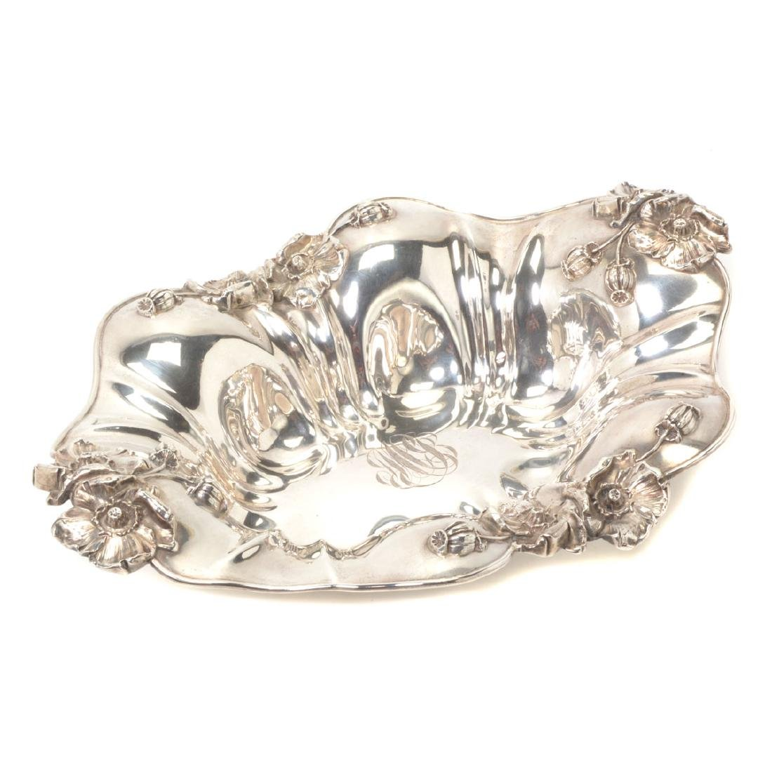 Art Nouveau Sterling Bowl with Floral Decoration